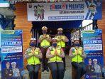 Satlantas Polres Melawi membuka Langkau Polantas, yang menyediakan layanan penyemprotan desinfektan dan hand sanitizer gratis selama Operasi Keselamatan Kapuas